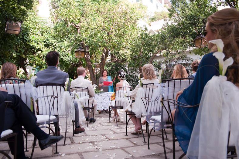 Symbolic wedding in Positano