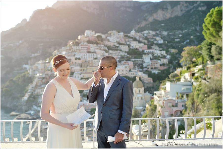 Wedding vows in Positano