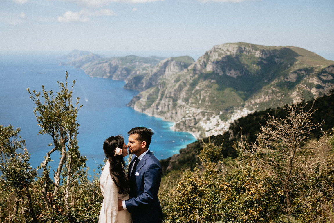 ocean view wedding amalfi coast