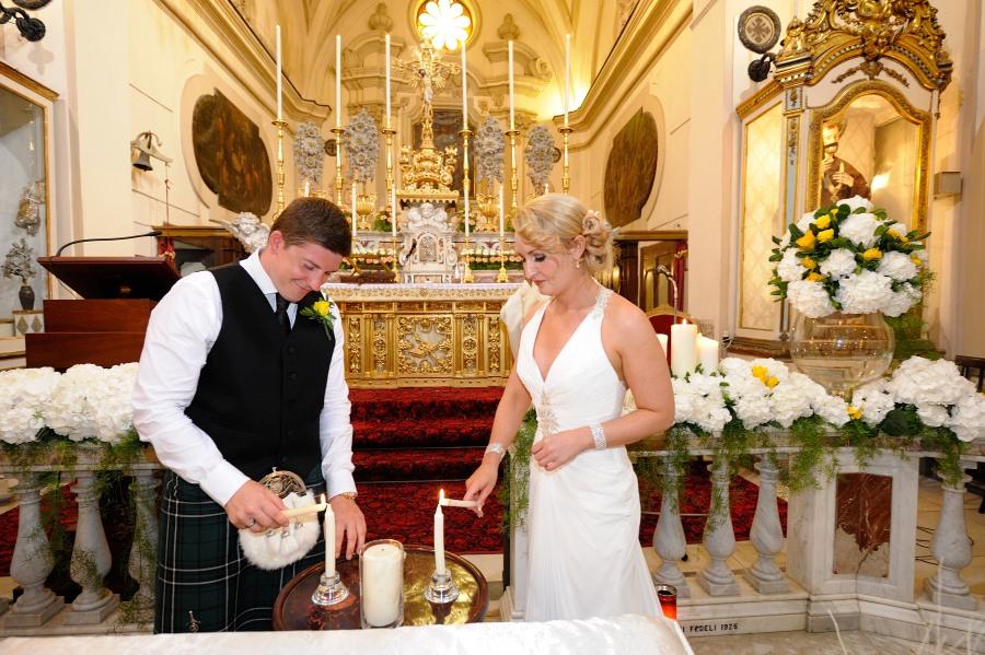 Catholic Scottish wedding in Amalfi