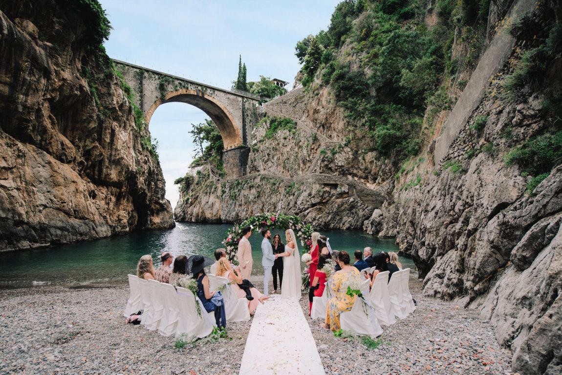 Beach wedding on the Amalfi coast Italy