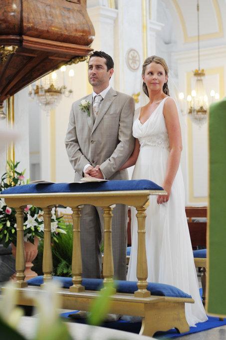 Romantic Positano Catholic Wedding