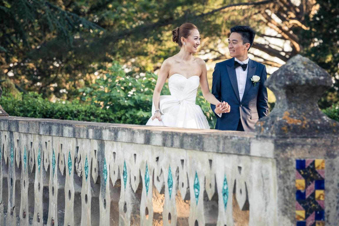 Luxury wedding in villa cimbrone