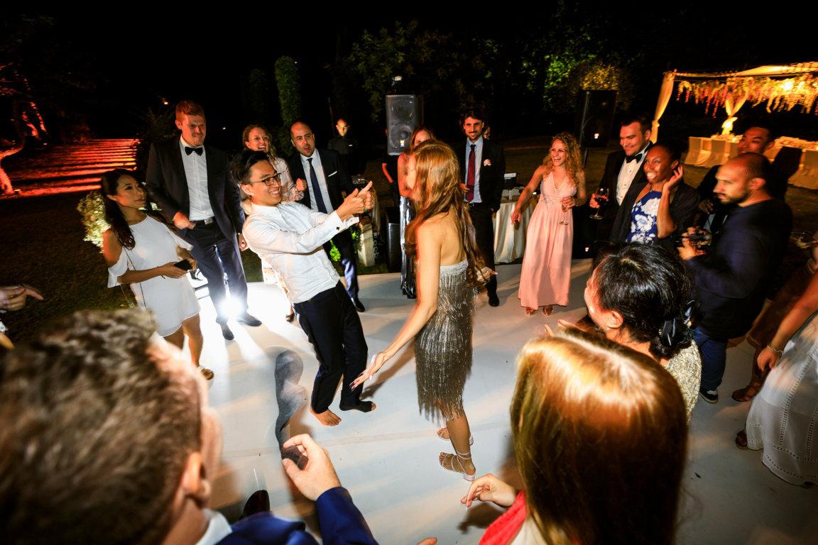 Disco party at villa cimbrone